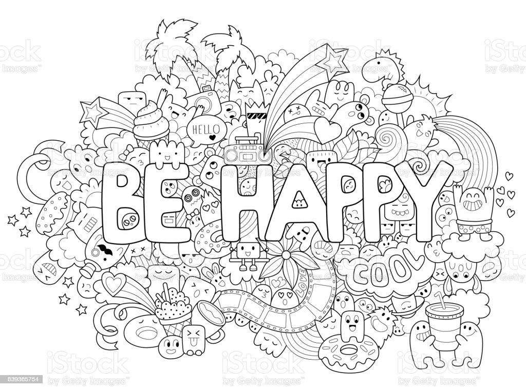 Ilustración de Página Para Colorear Para Imprimir Para Adultos Con ...