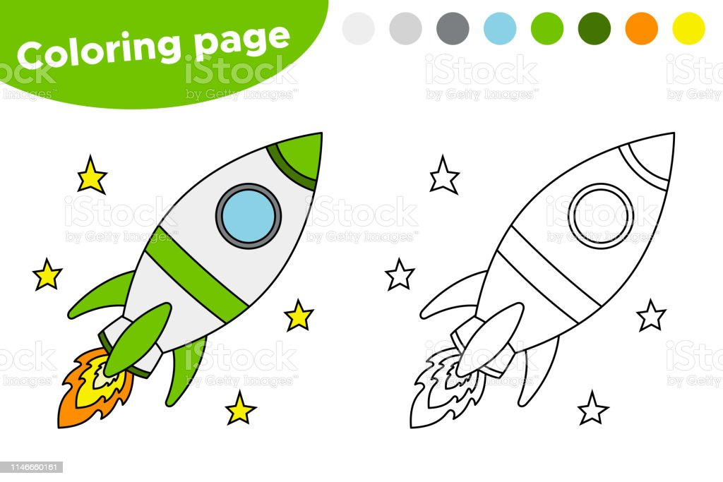 picture about Rocket Printable identify Printable Coloring Webpage Or Guide With Rocket Inventory