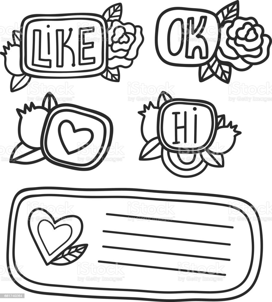 printable cute scrapbook stickers fun summer doodle frame floral