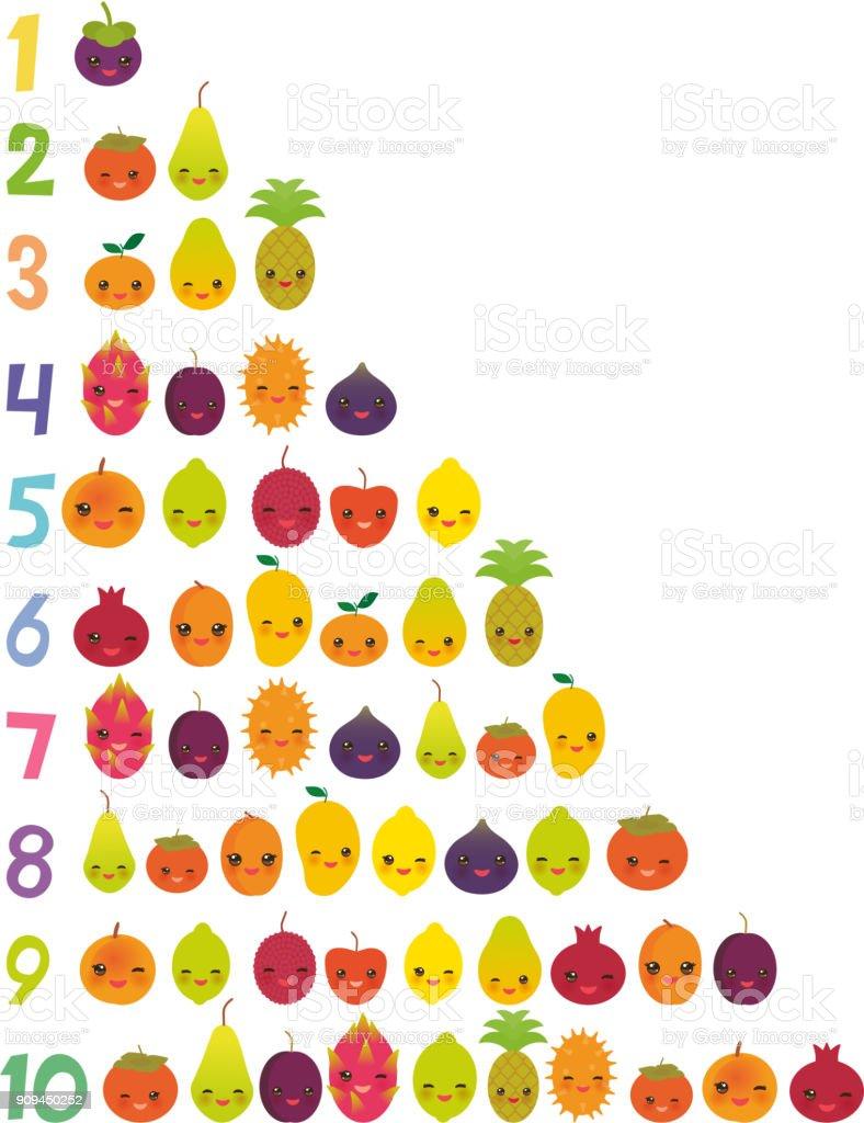ilustración de para imprimir tarjetas de números para preescolar
