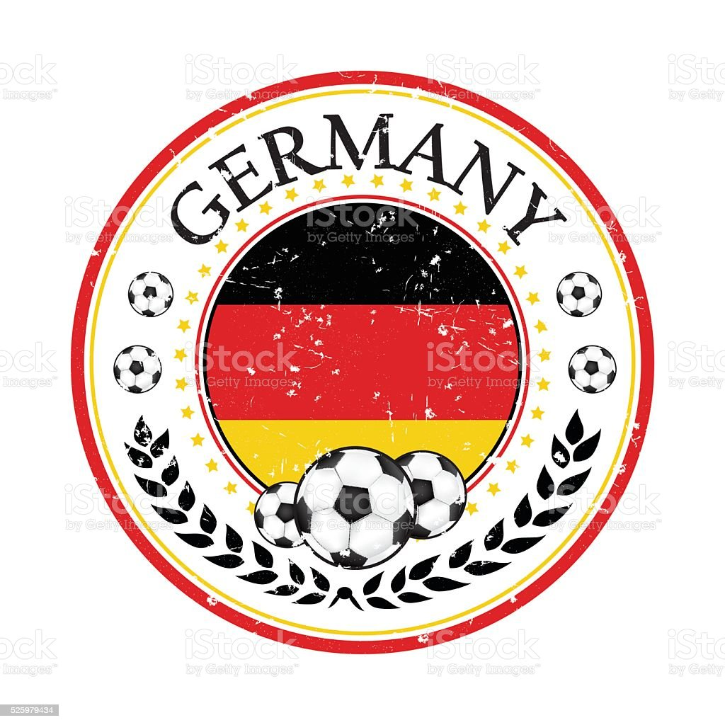 Printable Grunge Germany Soccer Stamp Stock Vector Art 525979434