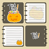 Printable Halloween Notebook Vector Design