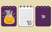 Printable Halloween Purple Notebook Vector Design
