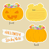 Printable Halloween Sticky Note Vector Design