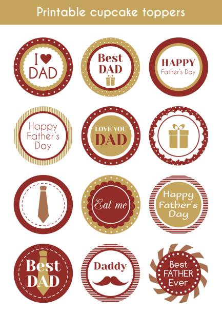 royalty free fathers day cake clip art vector images illustrations istock. Black Bedroom Furniture Sets. Home Design Ideas