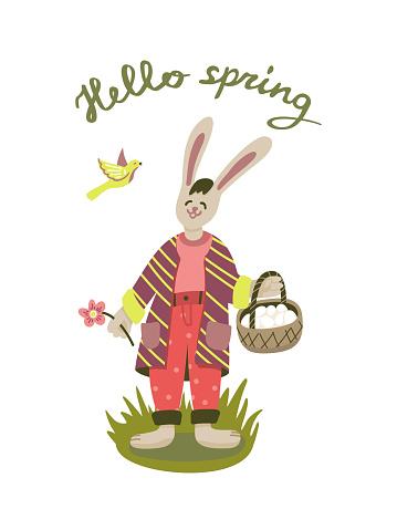 printable Illustration of easter bunny
