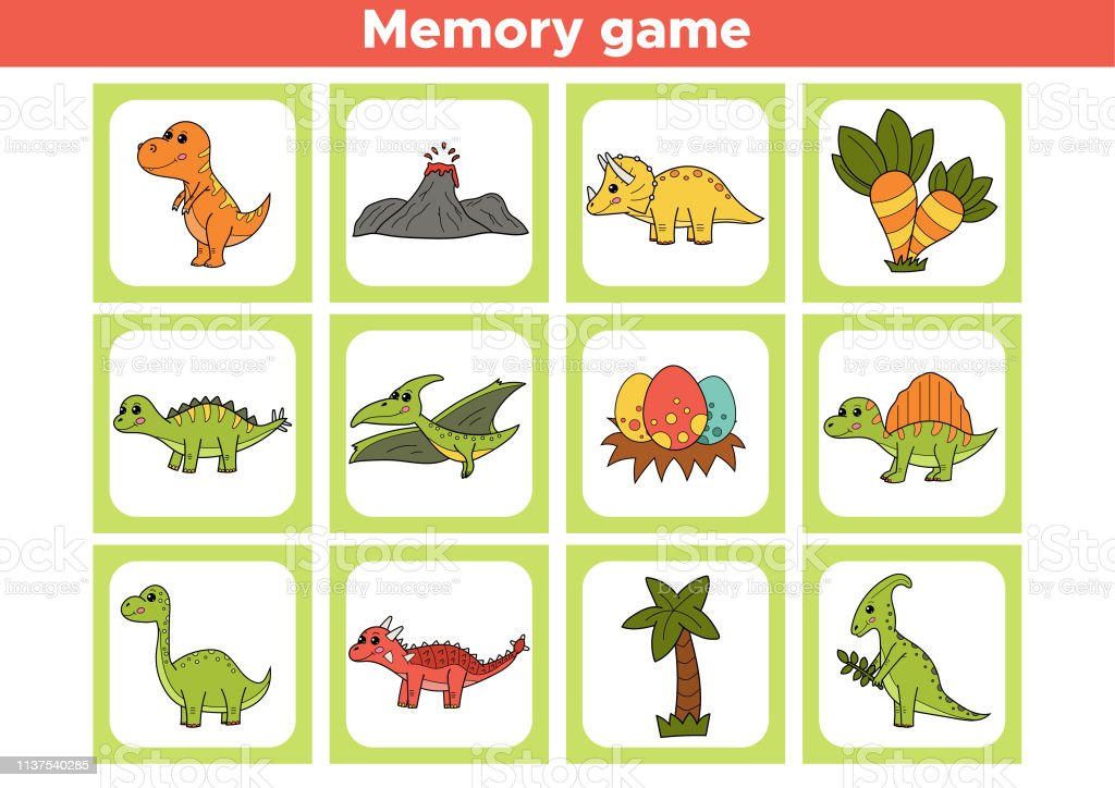 graphic regarding Printable Memory Game named Printable Memory Activity For Preschool Small children Inventory Case in point