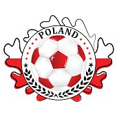 Printable Poland football team label