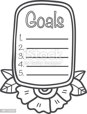 Printable Scrapbook Sticker Goalsl Fun Summer Doodle Frame