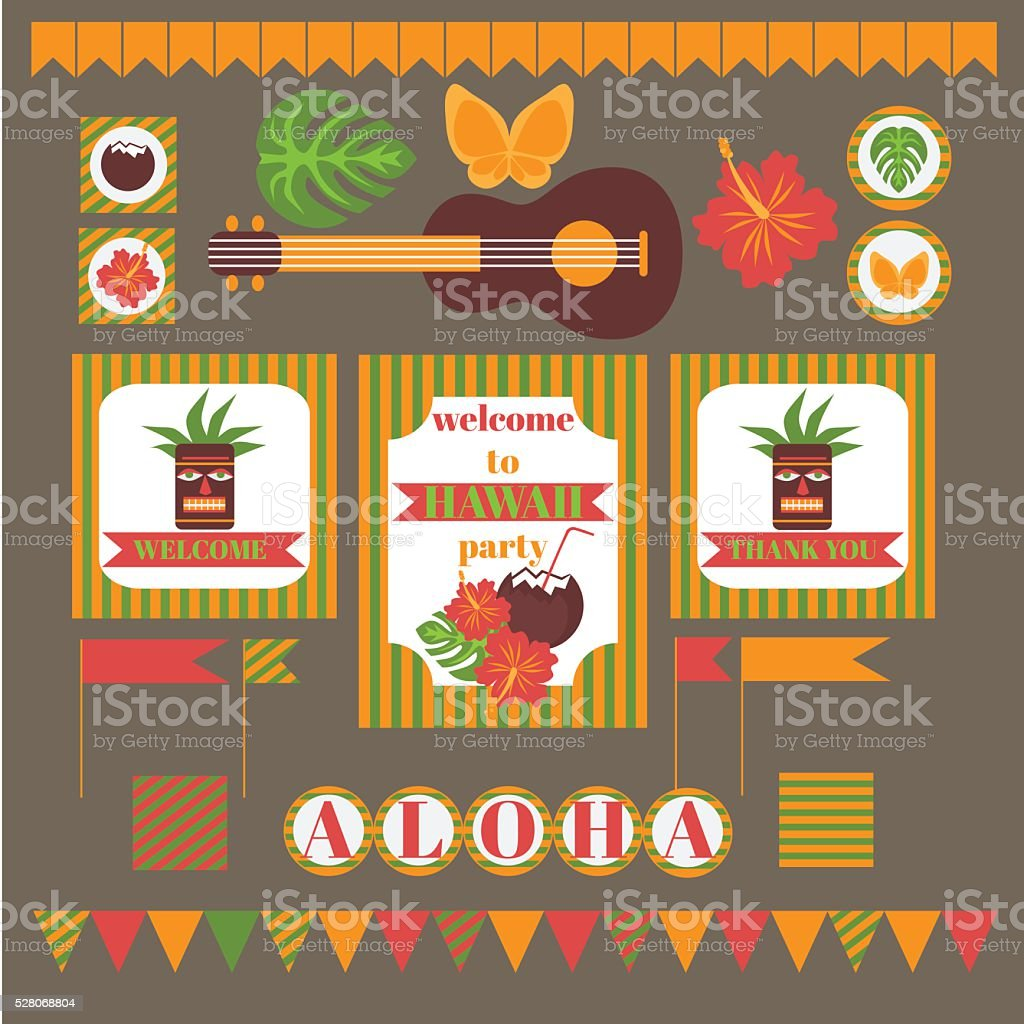 picture relating to Printable Luau Invitations named Printable Established Of Hawaii Bash Resources Template Luau