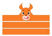 istock Printable squirrel paper headband. Party crown die cut template for birthday, christmas, baby shower. Fun accessory for entertainment. Print, cut and glue. Vector stock illustration. 1309166567