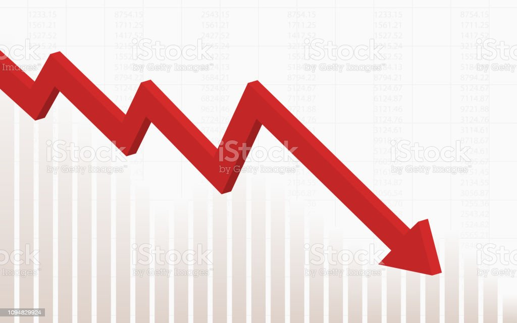 Image result for stock market chart down graphic