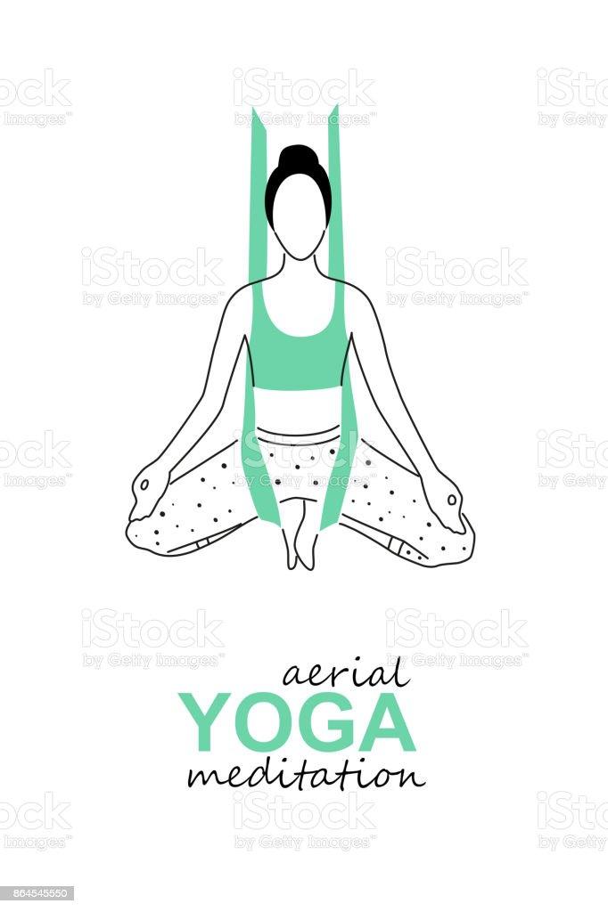 Printaerial Plantilla De Icono De Yoga Mosca Diseño De Tarjeta De ...