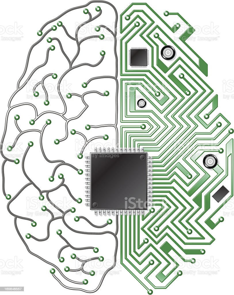 printed circuit board brain stock vector art more images of rh istockphoto com vector circuit board sphere free vector abstract background with circuit board texture