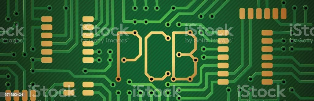 Printed Circuit Board Inscription Pcb Stock Vector Art & More Images ...