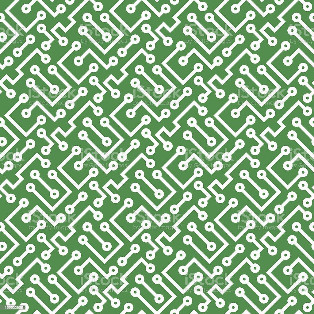 Printed Circuit Board, seamless vector illustration royalty-free stock vector art