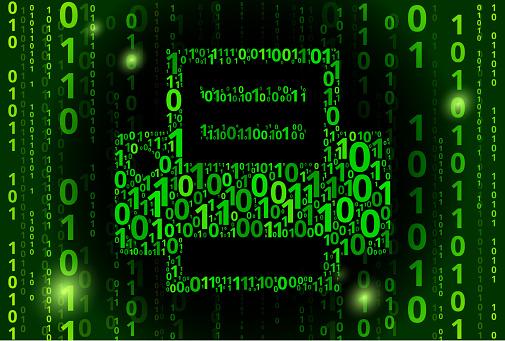 Printer Binary Code Vector Pattern Background