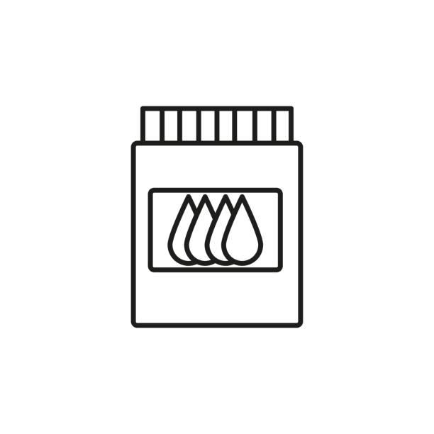 printer cartrige ink icon vector art illustration