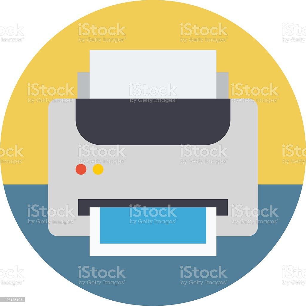 Printer Colored Vector Illustration vector art illustration