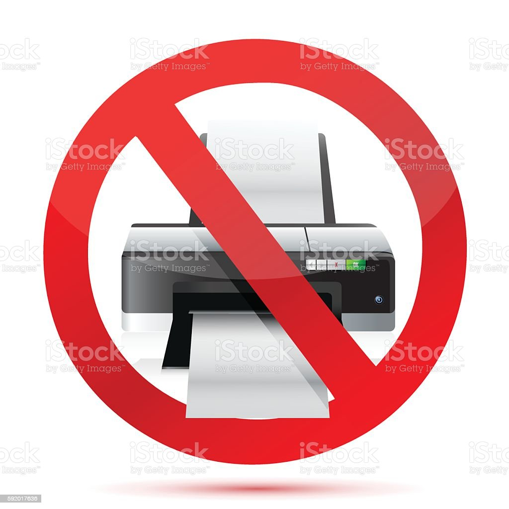 printer do not use sign illustration design over white vector art illustration