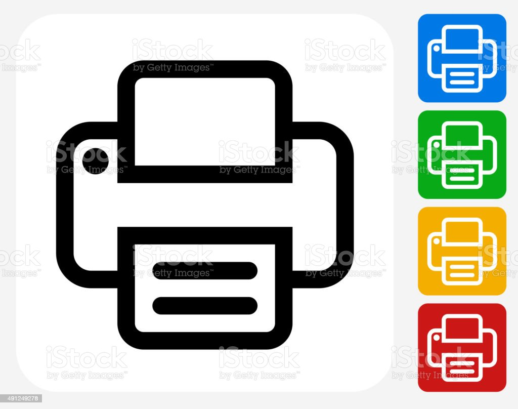 printer icon flat graphic design stock illustration download image now istock https www istockphoto com vector printer icon flat graphic design gm491249278 75653643