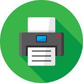 istock Printer Icon Flat 1185742782