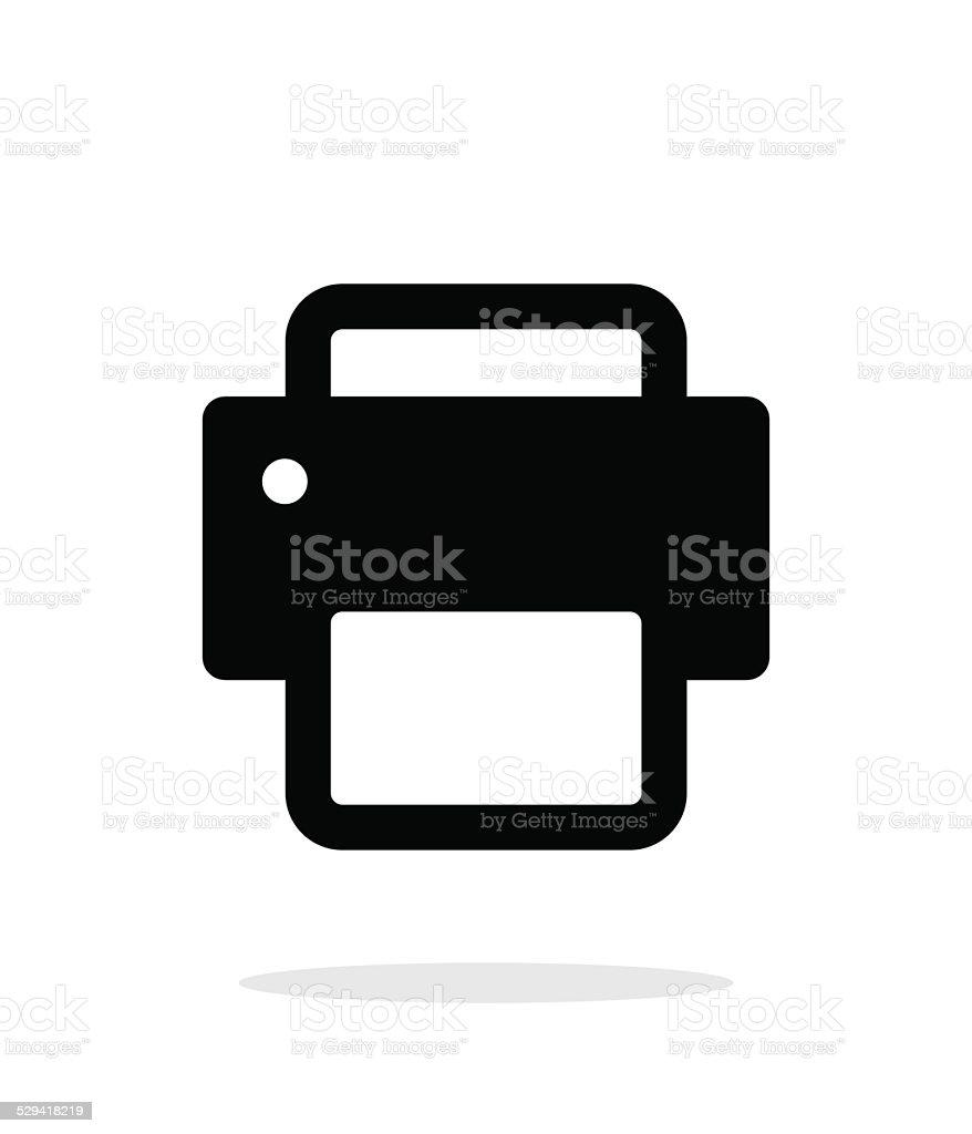 Printer icon on white background. vector art illustration