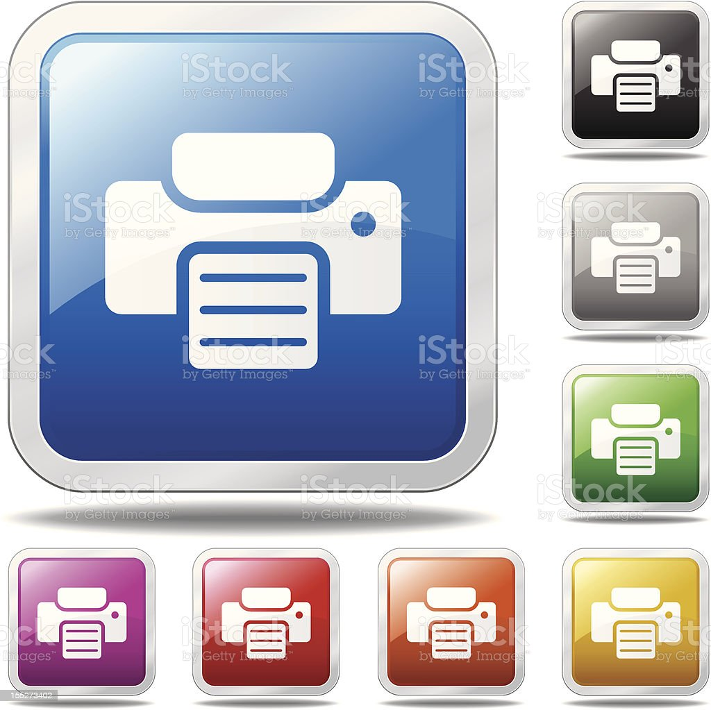 Printer Icon royalty-free printer icon stock vector art & more images of aluminum