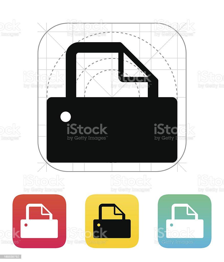 Printer icon. royalty-free stock vector art