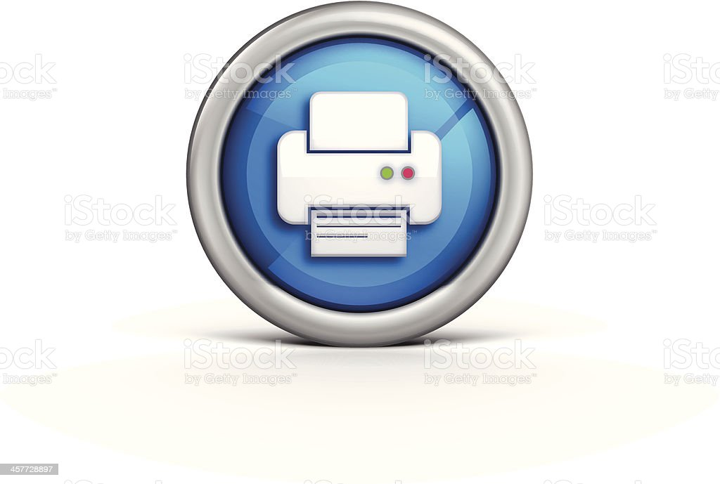 Printer Icon royalty-free stock vector art