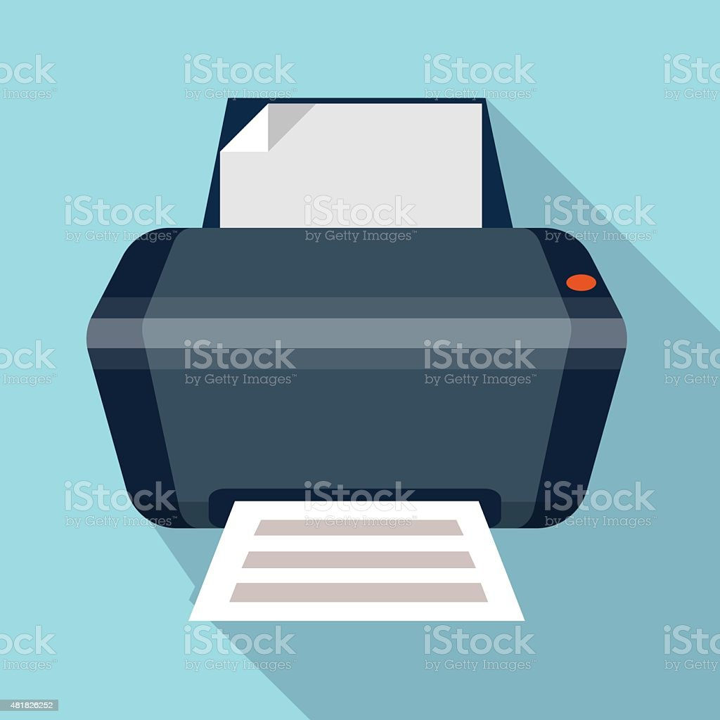 Printer icon. vector art illustration