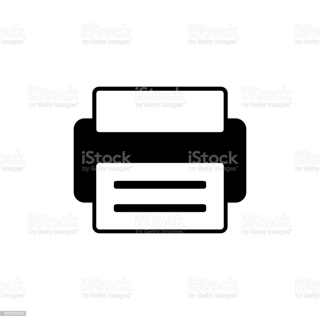 printer icon vector art illustration