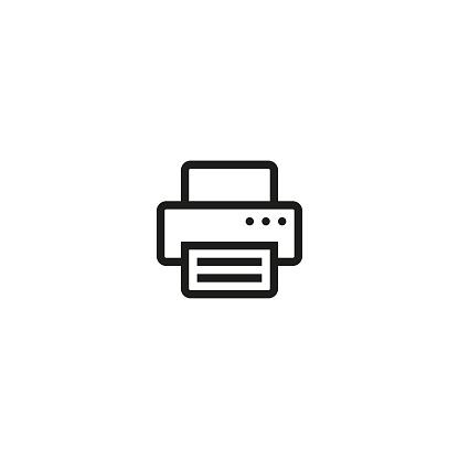 Printer icon. Vector