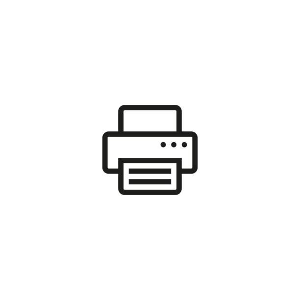 printer icon. vector - оттиск stock illustrations