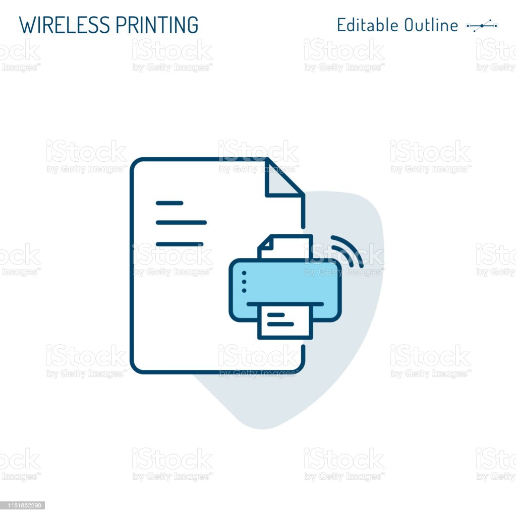 printer icon, wireless printing icon, fax, printout, scanner, photocopy,  photographer