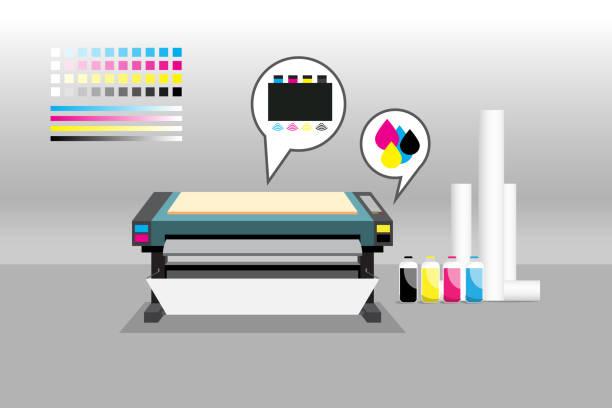 ilustraciones, imágenes clip art, dibujos animados e iconos de stock de impresora en la habitación - anonymous red activista