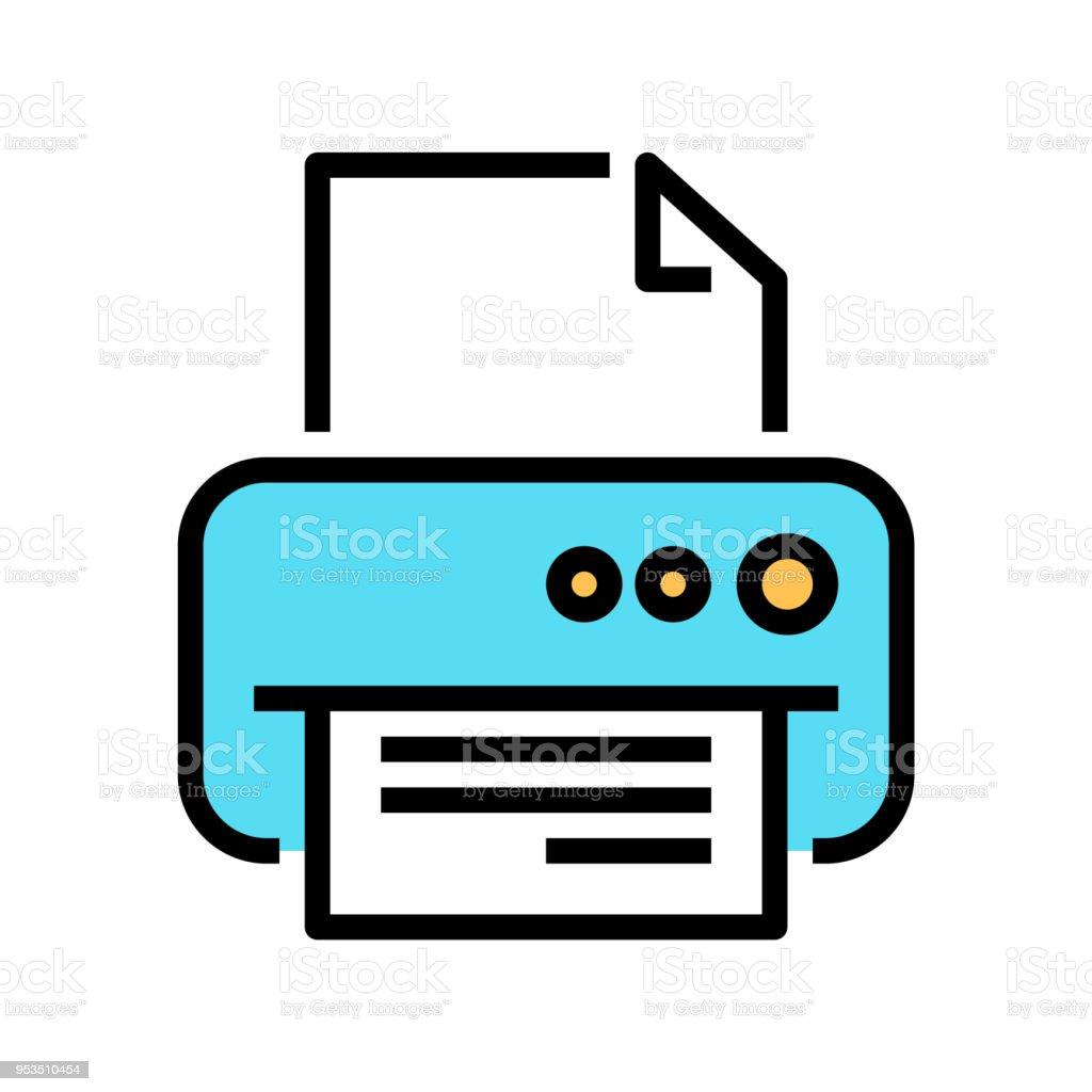 printer line icon fax vector illustration stock illustration download image now istock printer line icon fax vector illustration stock illustration download image now istock