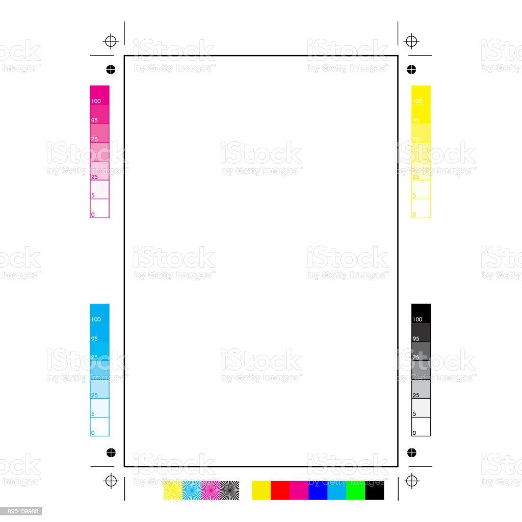 printer marks vector art illustration
