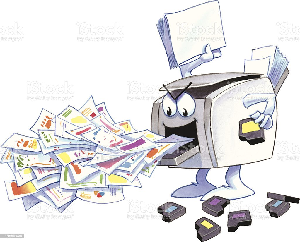 Printer Papers Hc Stock Illustration - Download Image Now - iStock
