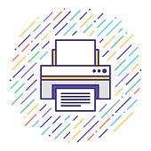 istock Printer Repair & Maintenance Flat Line Icon Illustration 1124831562