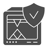 3D printer solid icon. 3D printer verified vector illustration isolated on white. 3d printing completed glyph style design, designed for web and app. Eps 10