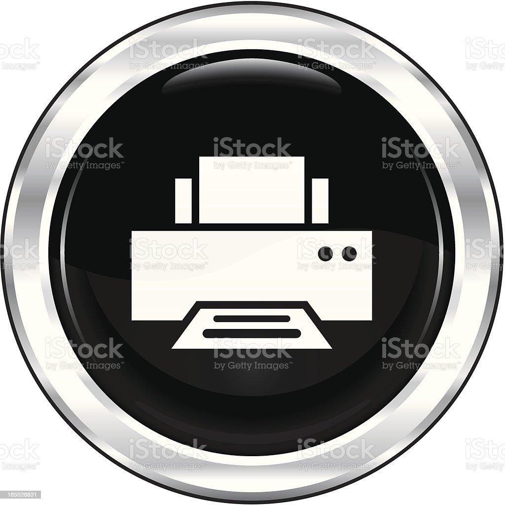 Printer   The Blackest Icon Series royalty-free stock vector art