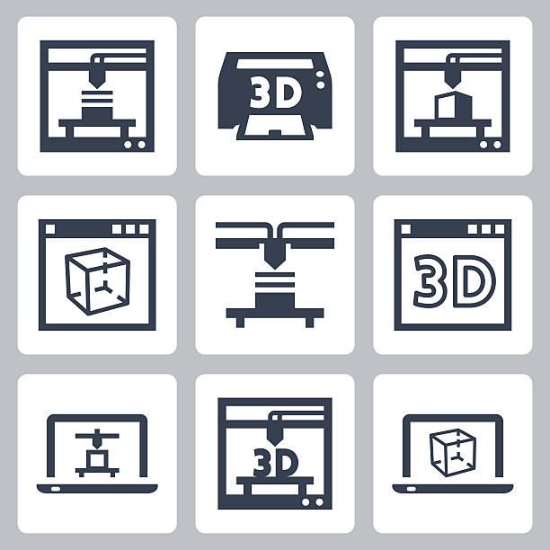 3d printing vector art graphics freevector com https www freevector com vector 3d printing