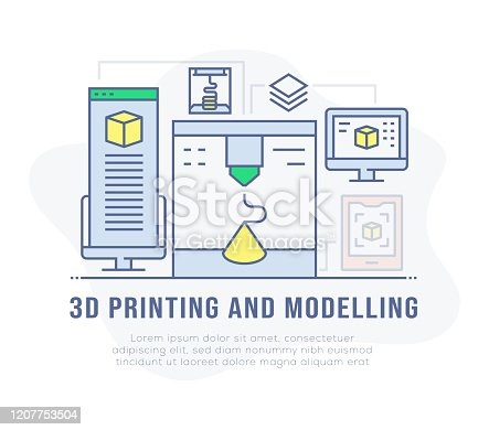 3D Printing and Modelling Banner