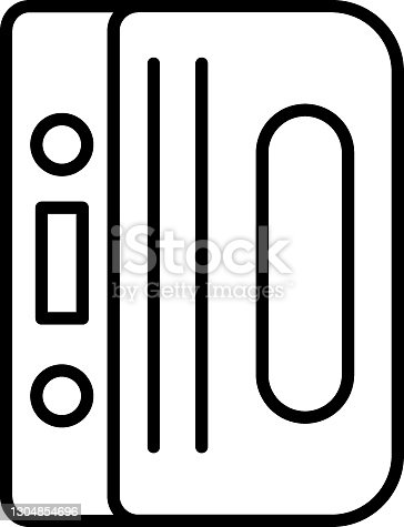istock 3D printing digital device vector line icon design, additive manufacturing Symbol on white background 1304854696