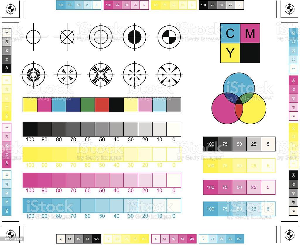 CMYK Printing Elements vector art illustration