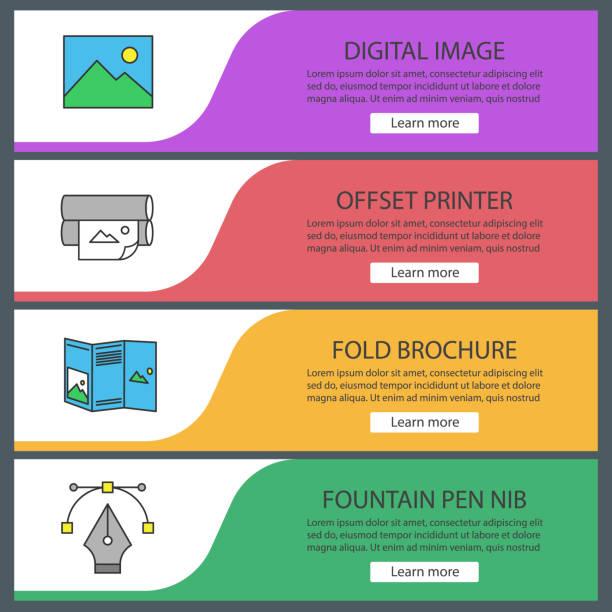ilustrações, clipart, desenhos animados e ícones de ícones de impressão - fontes e tipografia