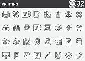 Printing Line Icons