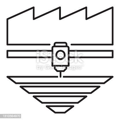istock 3D Printing Manufacturing Product Vector Icon design 1310564970
