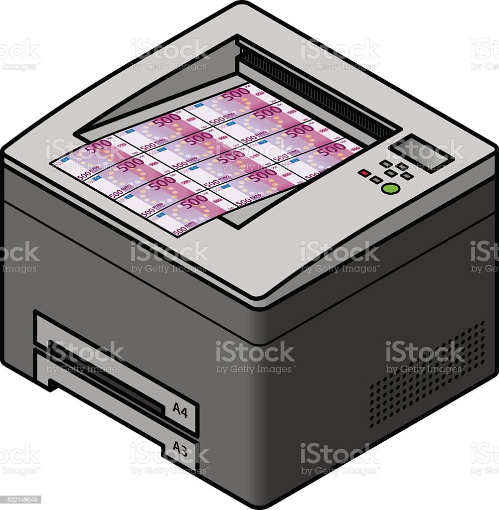 Printing Money Stock Illustration - Download Image Now - iStock